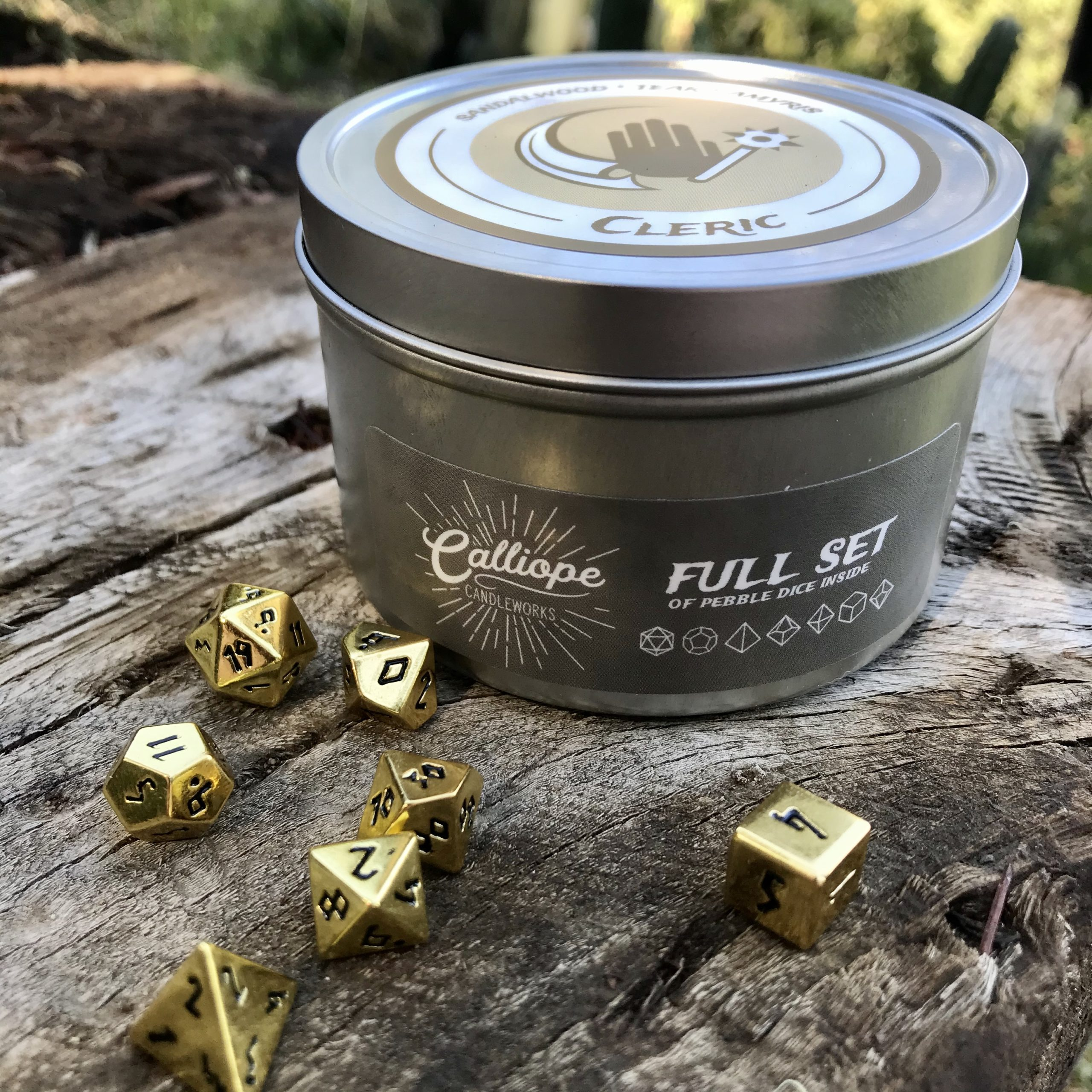 Cleric Champions Of The Pyre Candles With Embedded Metal Dice Calliope Candleworks Norse foundry offers dice for roleplaying games such as dungeons and dragons, pathfinder, shadowrun and other tabletop games. cleric champions of the pyre candles with embedded metal dice